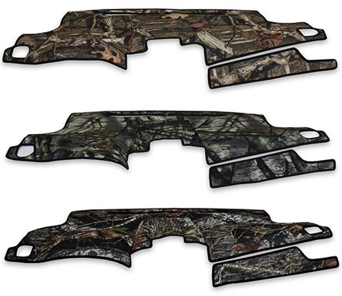 coverking velour dash cover mossy oak colors