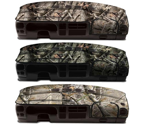 coverking velour rear dash cover realtree colors