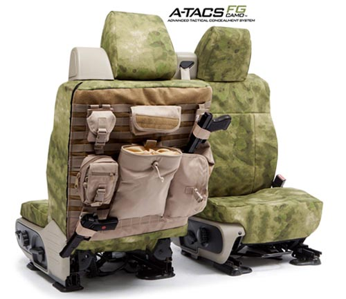 Coverking Custom Tactical Seat Covers Ballistic A-tacs Camo