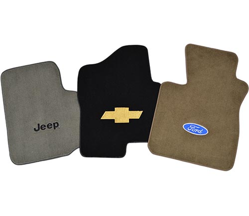 acc cutpile floor mats with logos
