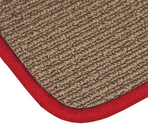 averys luxury touring floor mat red edging