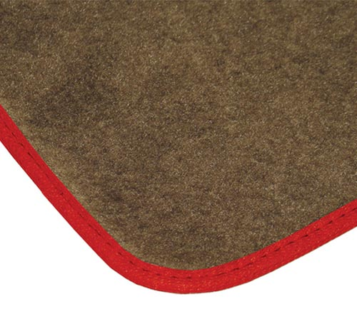 averys touring floor mat red edging
