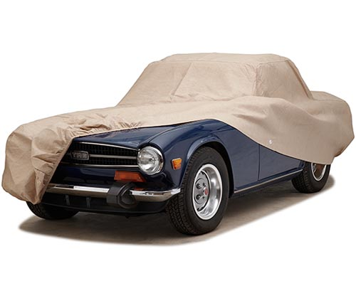 covercraft block-it dustop car cover tr6 uncovered