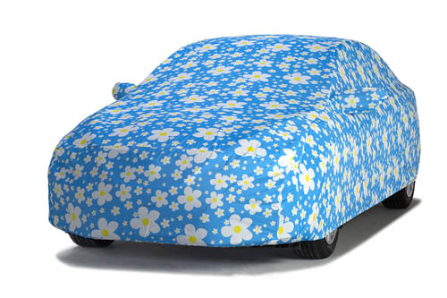 covercraft daisy blue grafix series car cover