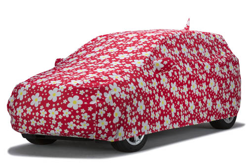 covercraft daisy red grafix series car cover