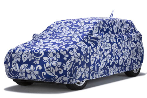 covercraft floral blue grafix series car cover