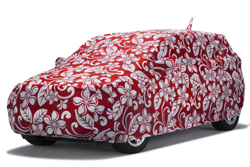 covercraft floral red grafix series car cover