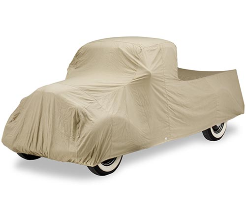 covercraft tan flannel car cover 1937 ford truck covered