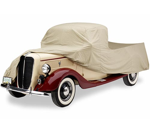 covercraft tan flannel car cover 1937 ford truck uncovered