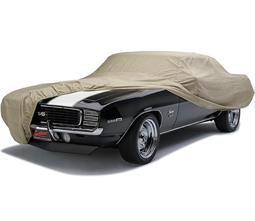 covercraft tan flannel car cover camaro