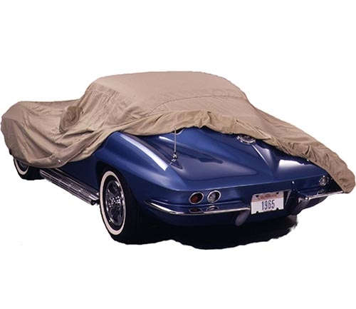 covercraft tan flannel car cover corvette uncovered
