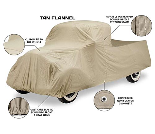 covercraft tan flannel car cover info