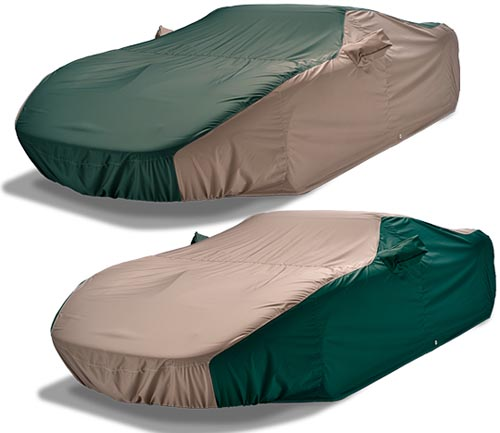 covercraft weathershield hp car cover green and taupe