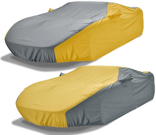 covercraft weathershield hp car cover yellow and gray