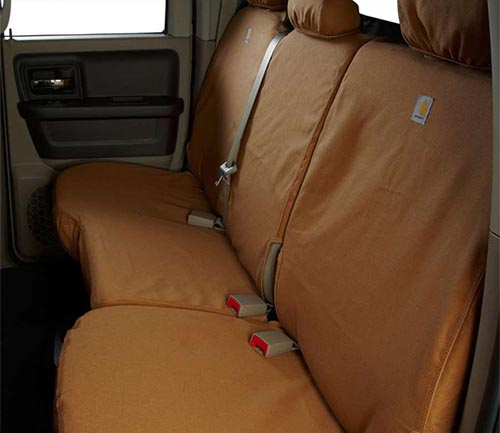 covercraft carhartt duck weave seat cover brown