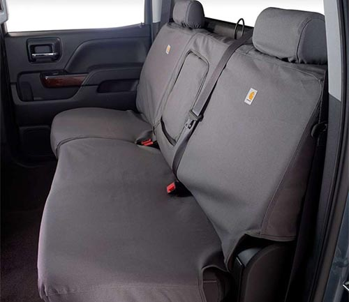 covercraft carhartt duck weave seat cover gravel