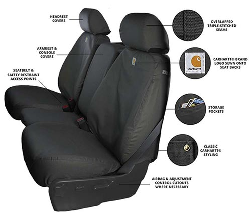 covercraft carhartt duck weave seat cover info