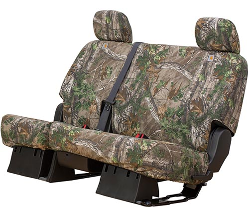 covercraft carhartt realtree camo seat cover xtra green