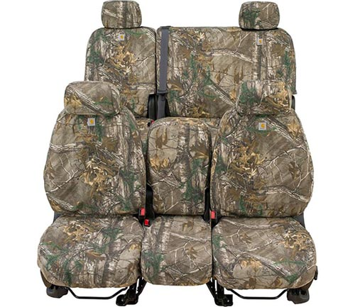 covercraft carhartt realtree camo seat cover xtra brown