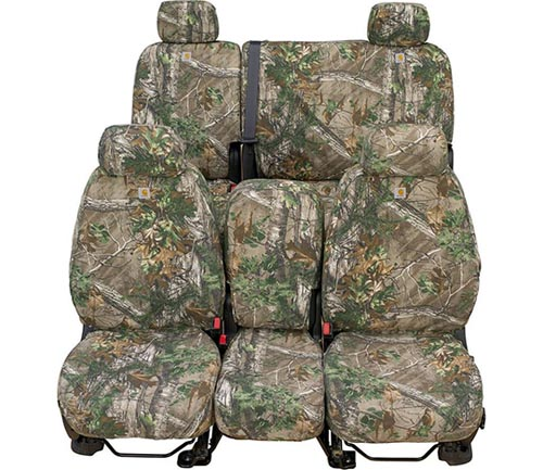 covercraft carhartt realtree camo seat cover xtra green