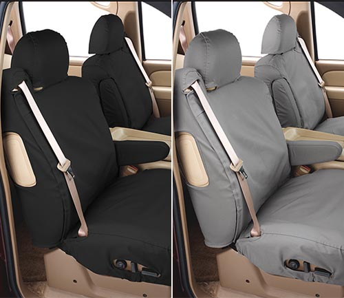 covercraft polycotton seat cover charcoal and gray