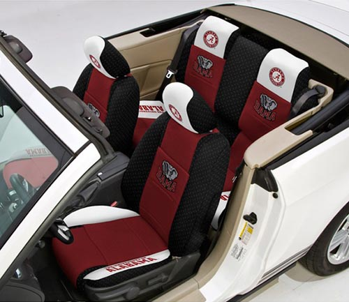 coverking collegiate print seat cover in-car