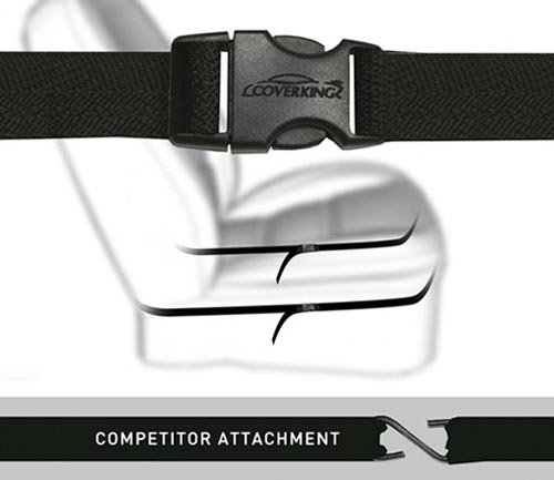 coverking seat cover buckle