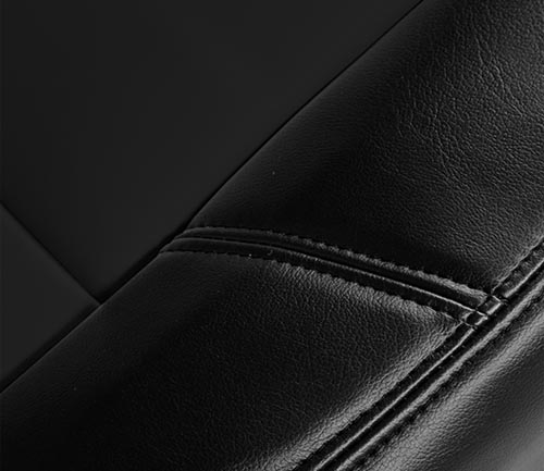 coverking genuine leather seat cover seam