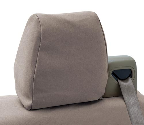 coverking poly cotton drill seat cover headrest