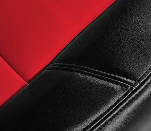 coverking premium leatherette seat cover seam