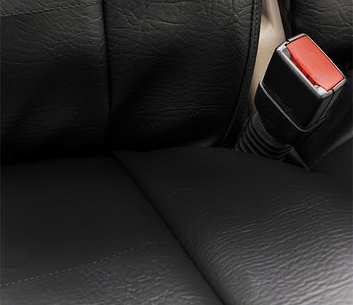 coverking rhinohide seat cover seam