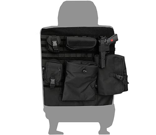 coverking tactical seat cover black backing