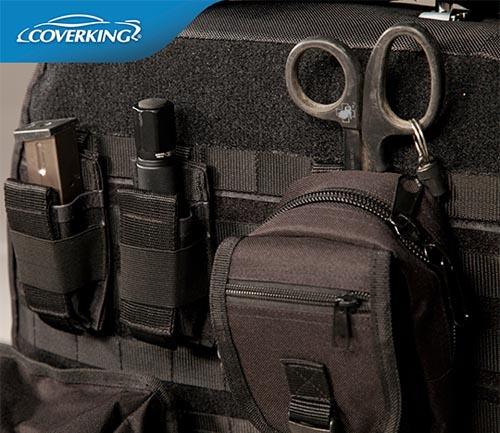 coverking cordura/ballistic tactical seat cover black backing