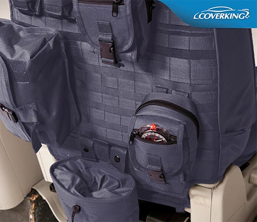coverking cordura/ballistic tactical seat cover gray backing