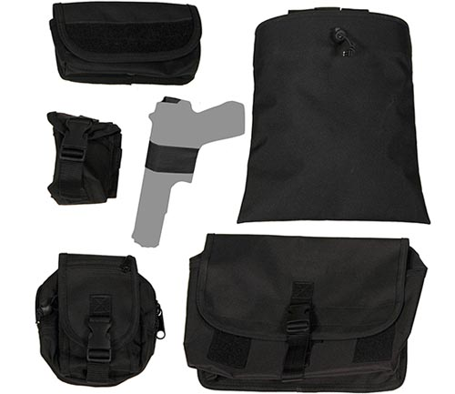 coverking tactical seat cover black pouches