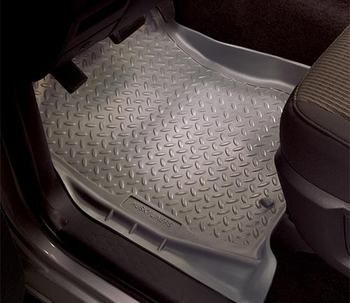 husky classic style floor mat gray driver
