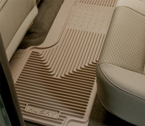husky heavy duty floor mat tan second row