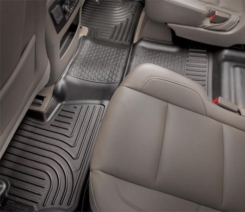 husky weatherbeater series floor mat black second row