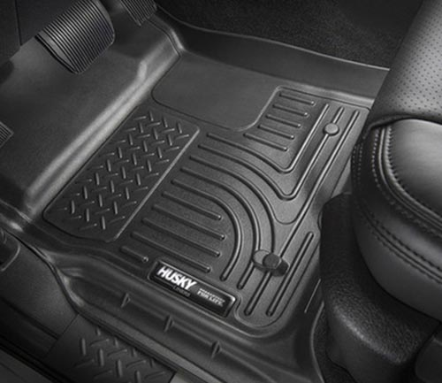 husky weatherbeater series floor mat black driver