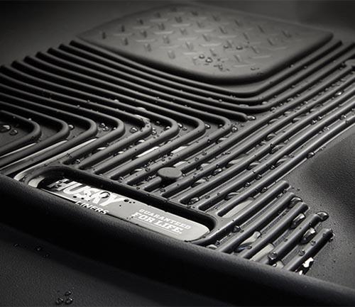 husky x-act contour series floor mat grooves water