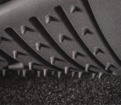 husky x-act contour series floor mat stayput cleats