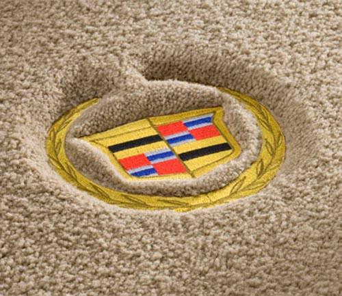 lloyd luxe floor mat cadillac logo
