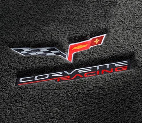 lloyd luxe floor mat corvette flag logo