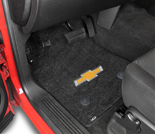 lloyd ultimats floor mat chevrolet logo